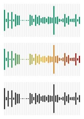 Bar chart, bar graph interface elements