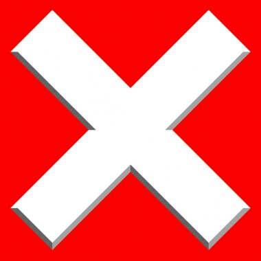 Prohibition, restriction, delete icon
