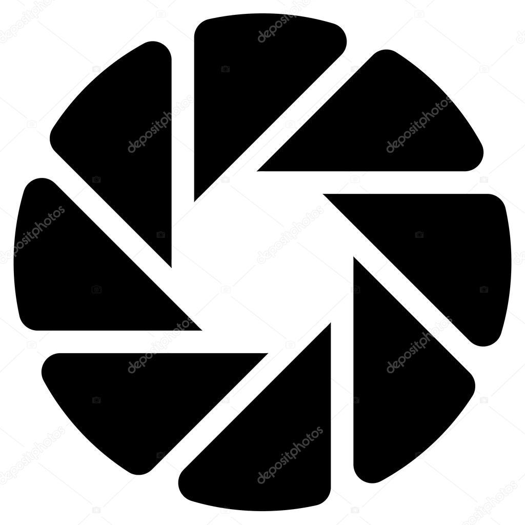 Diafragma ícone De Foco Da Câmera Vetor De Stock Vectorguy