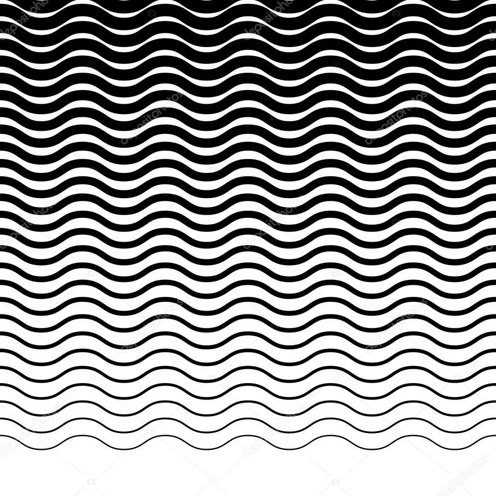 Patrón De Líneas Onduladas En Zigzag Vector De Stock