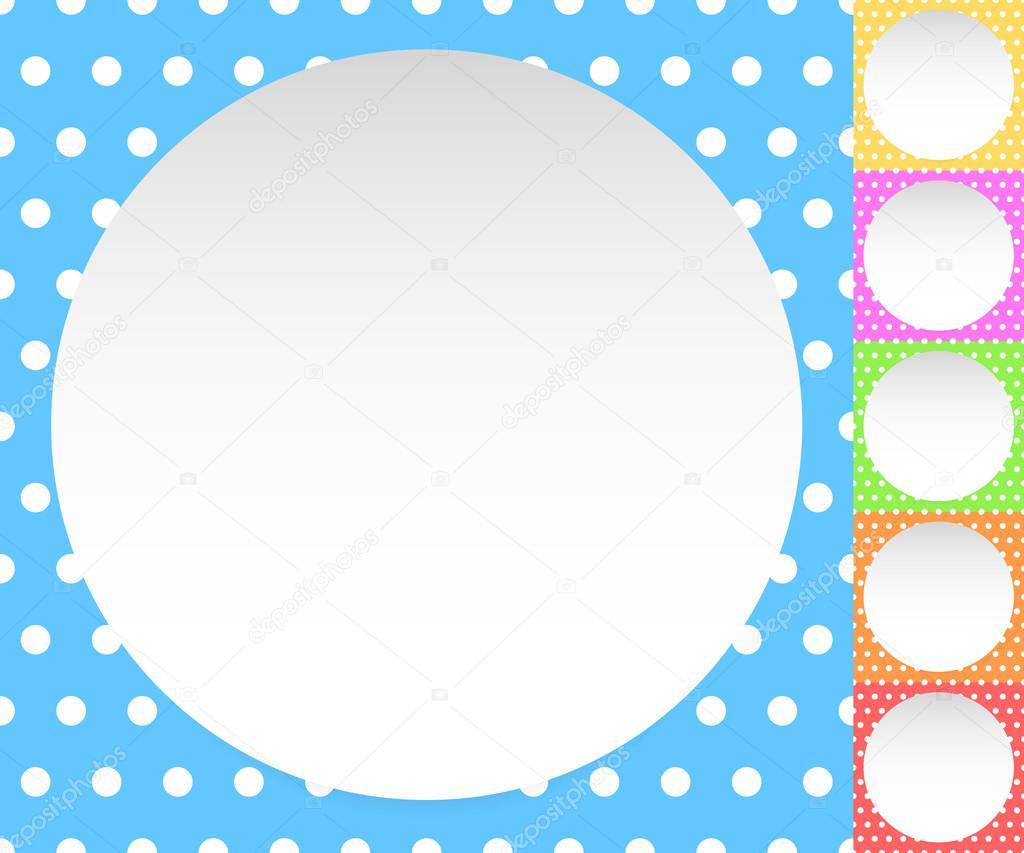 Círculos en blanco en patrones de punto de polca — Vector de stock ...
