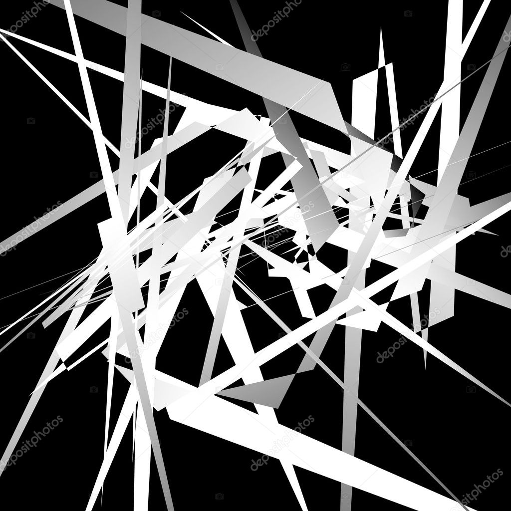 Geometric abstract lines monochrome background.