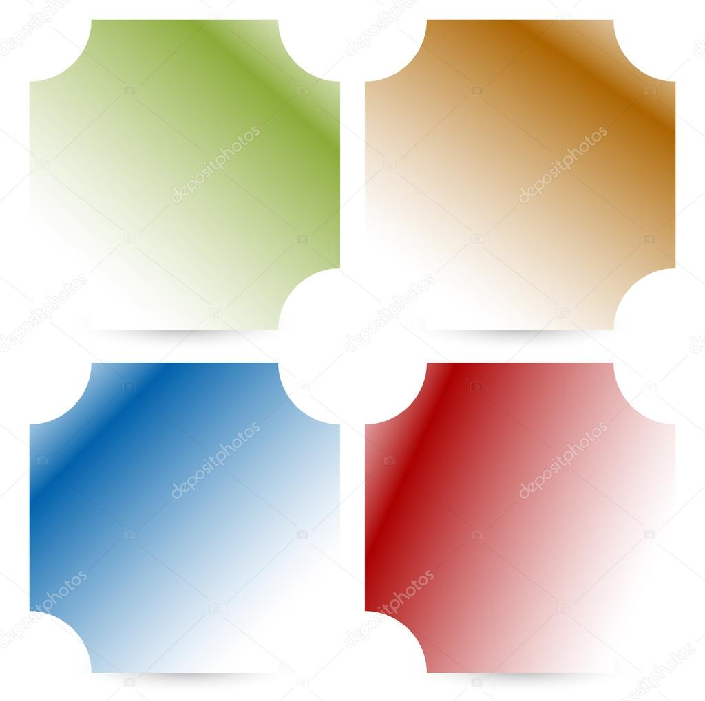 colorful button, badge shapes set — Stock Vector © vectorguy #126899338