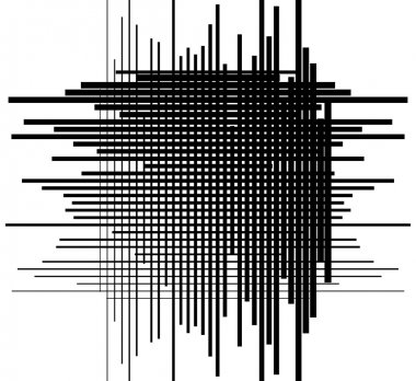 Asymmetric grid mesh pattern