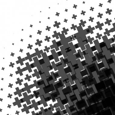Halftone pattern made of crosses.