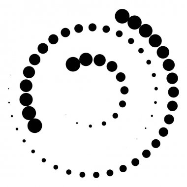 Spiral element with concentric circles