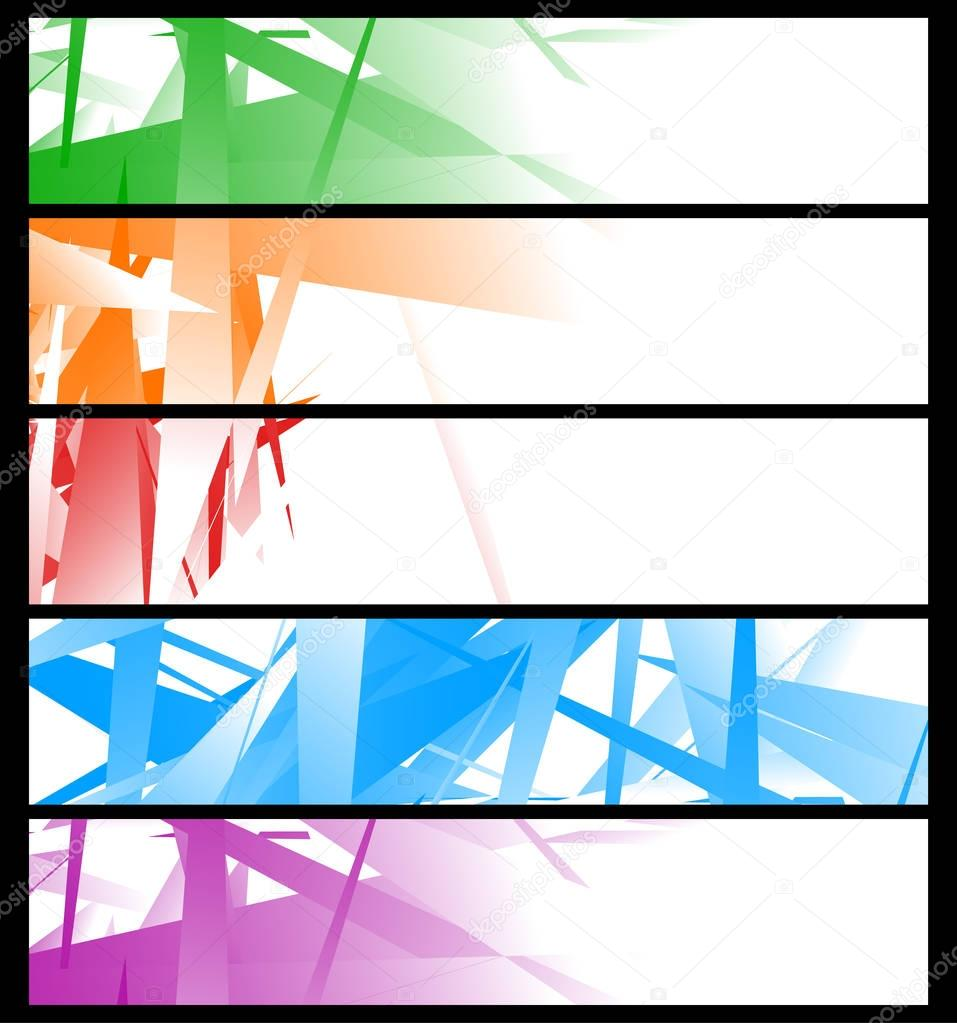 Banner templates with abstract geometric art — Stock Vector ...