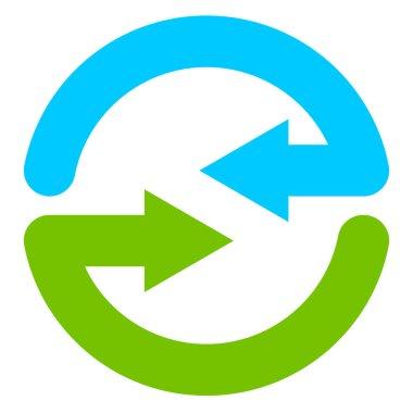 Blue and green circular arrows