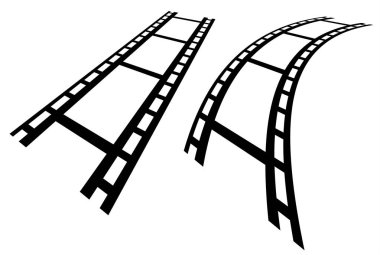 Film strips in perspective.