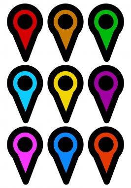 map pin icons