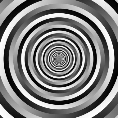 Grayscale circular geometric background.