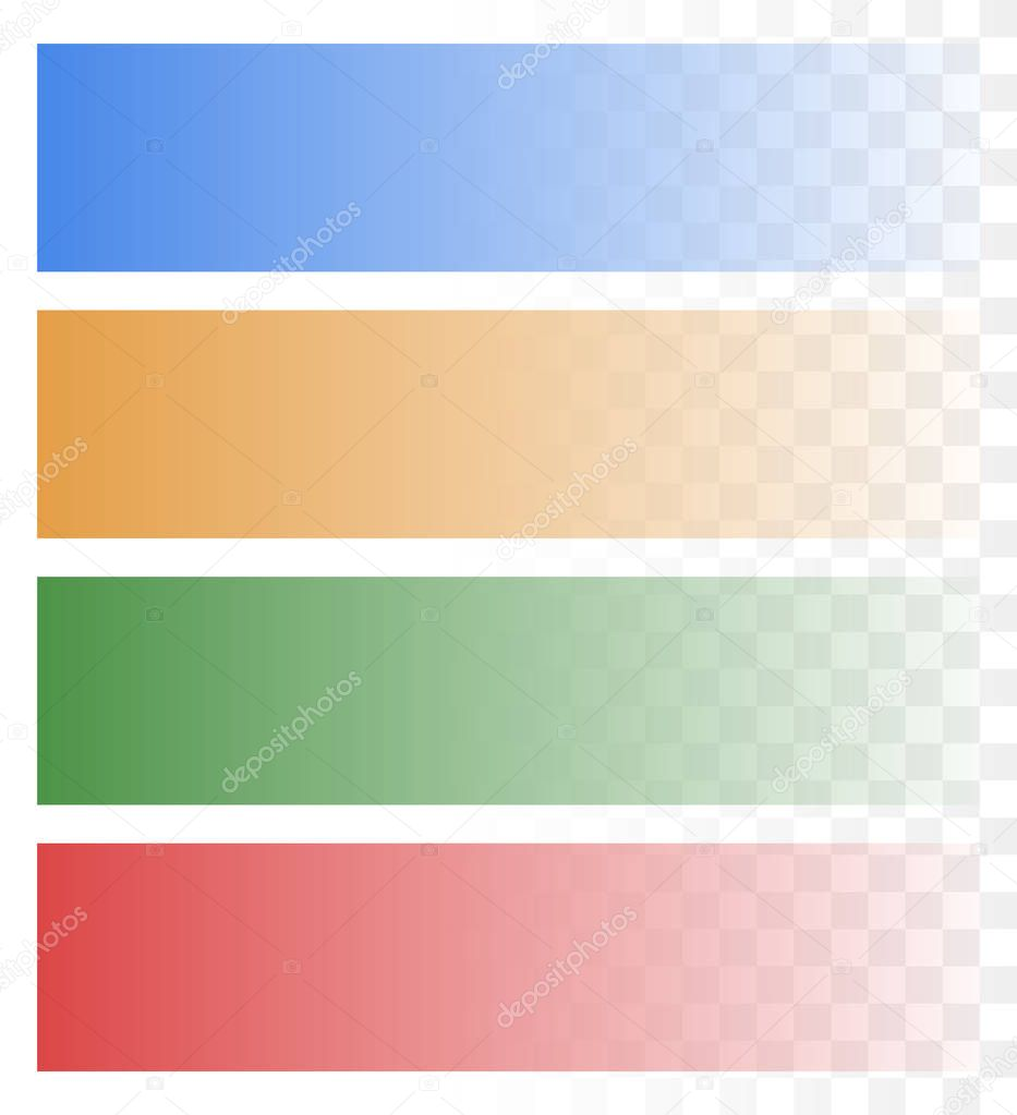 set of fading banner shapes stock vector vectorguy 130538094