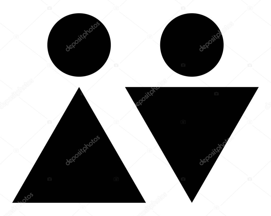 Male female bathroom sign images - Cuttable Male Female Restroom Signs Stock Vector 130539800