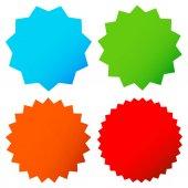 Fotografie Different starburst shapes in 4 colors set