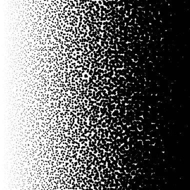 Irregular dots abstract monochrome halftone