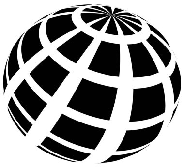 Sphere with grid of squares