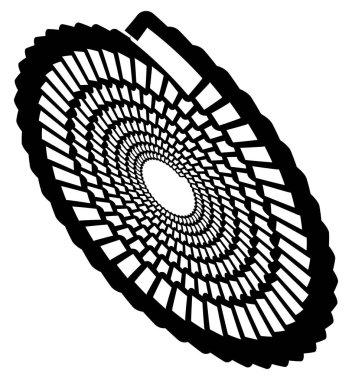 Circular geometric spiral