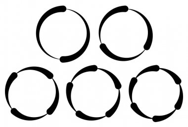 Set of segmented circles.