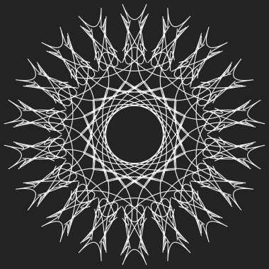 Geometric circle. Circular element.