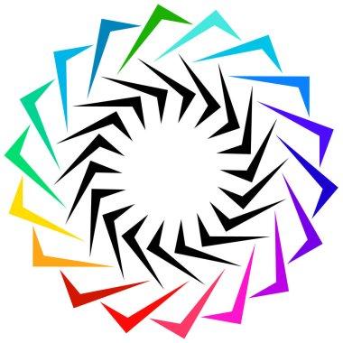 Geometric shape as logo or design element.
