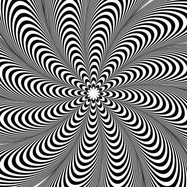 Radiating lines pattern