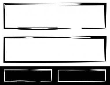 Grungy irregular frames set