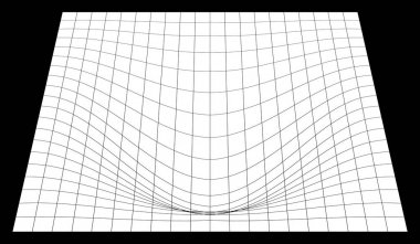 Bent grid in perspective