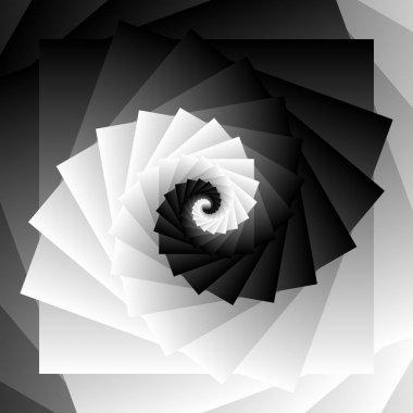 Geometric spiral pattern