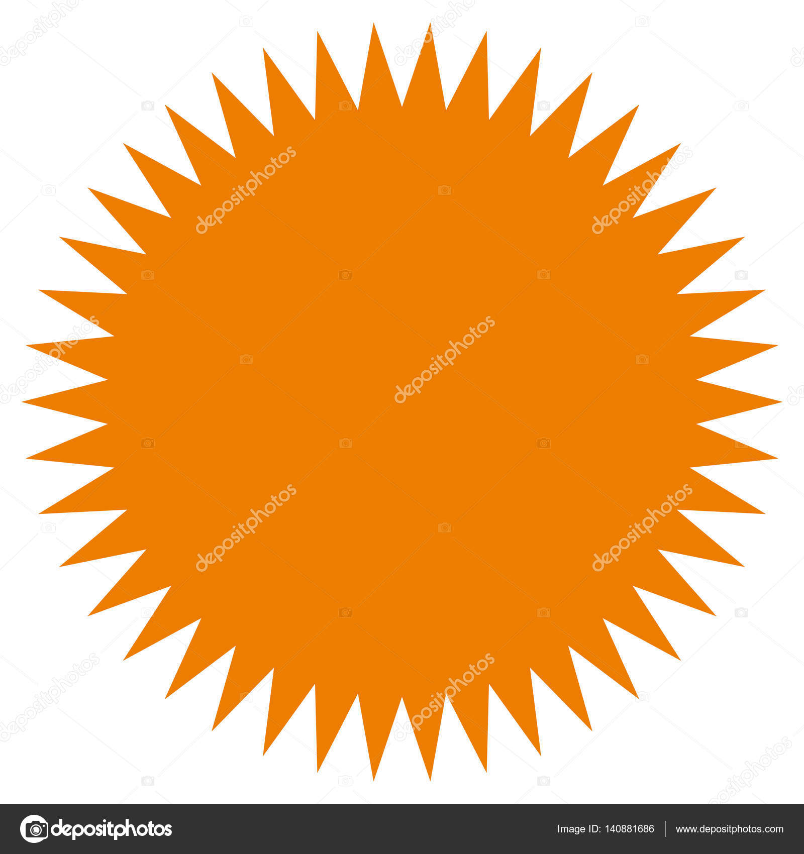 starburst sunburst shape stock vector vectorguy 140881686 rh depositphotos com sunburst vector vintage vector sunburst background