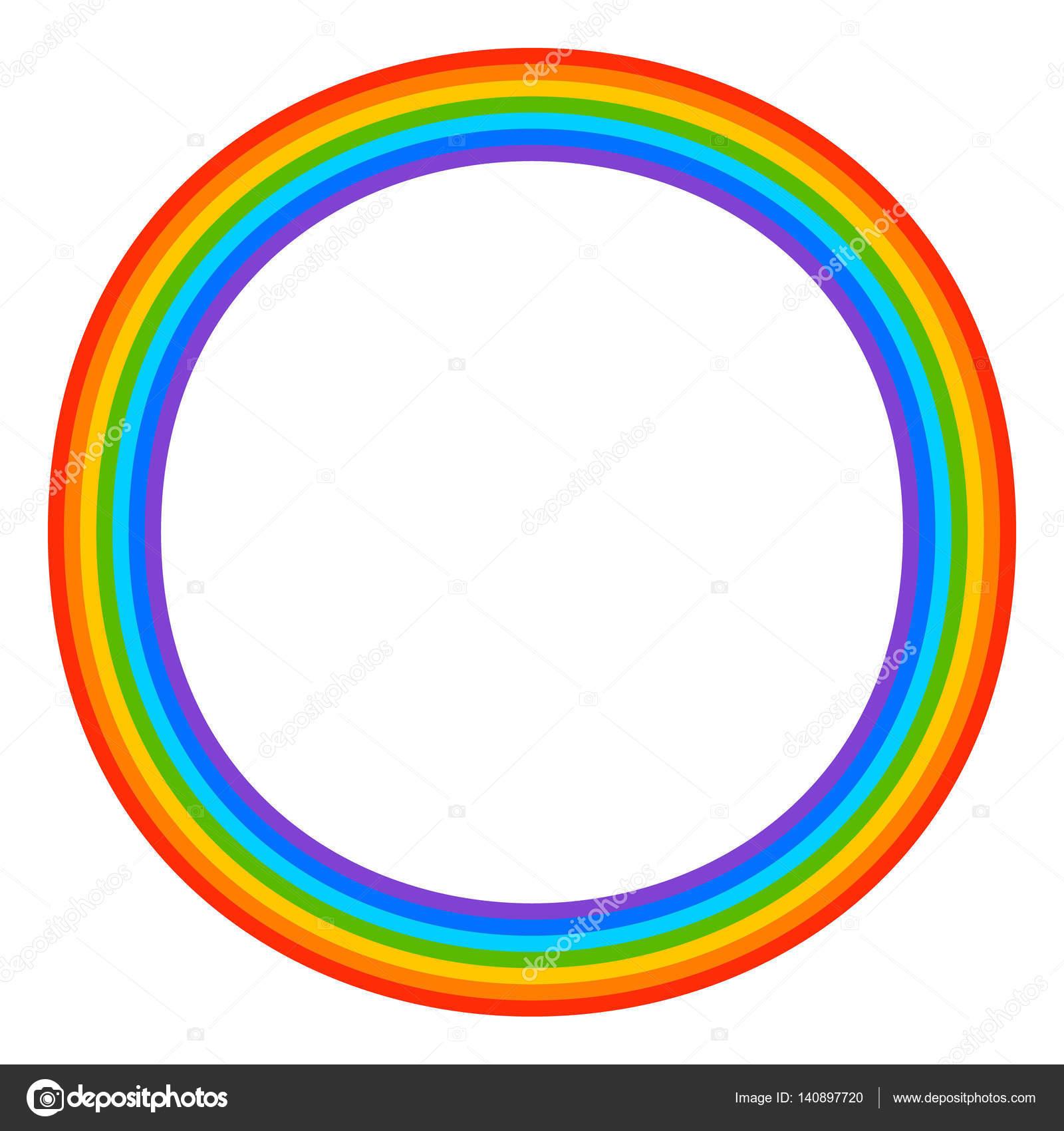 Einfache 7 Farben Regenbogen Element Stockvektor Vectorguy