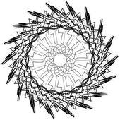 kör alakú spirál elem.