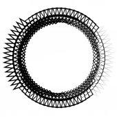 kör alakú spirál elem