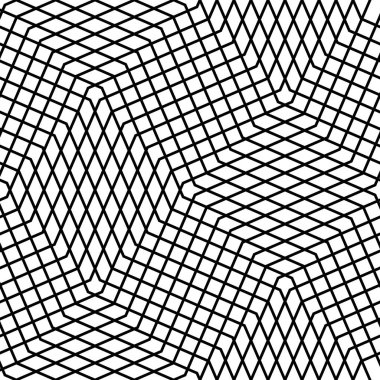 Seamlessly repeatable geometric pattern