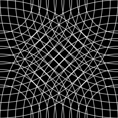 Cellular grid, mesh pattern