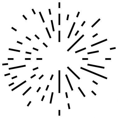 Random radial lines explosion effect.