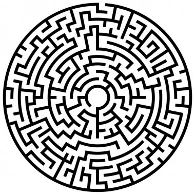 Solvable circular maze element