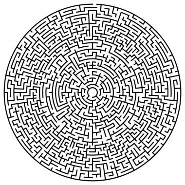 Solvable circular maze element