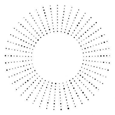 dotted circular half-tone element