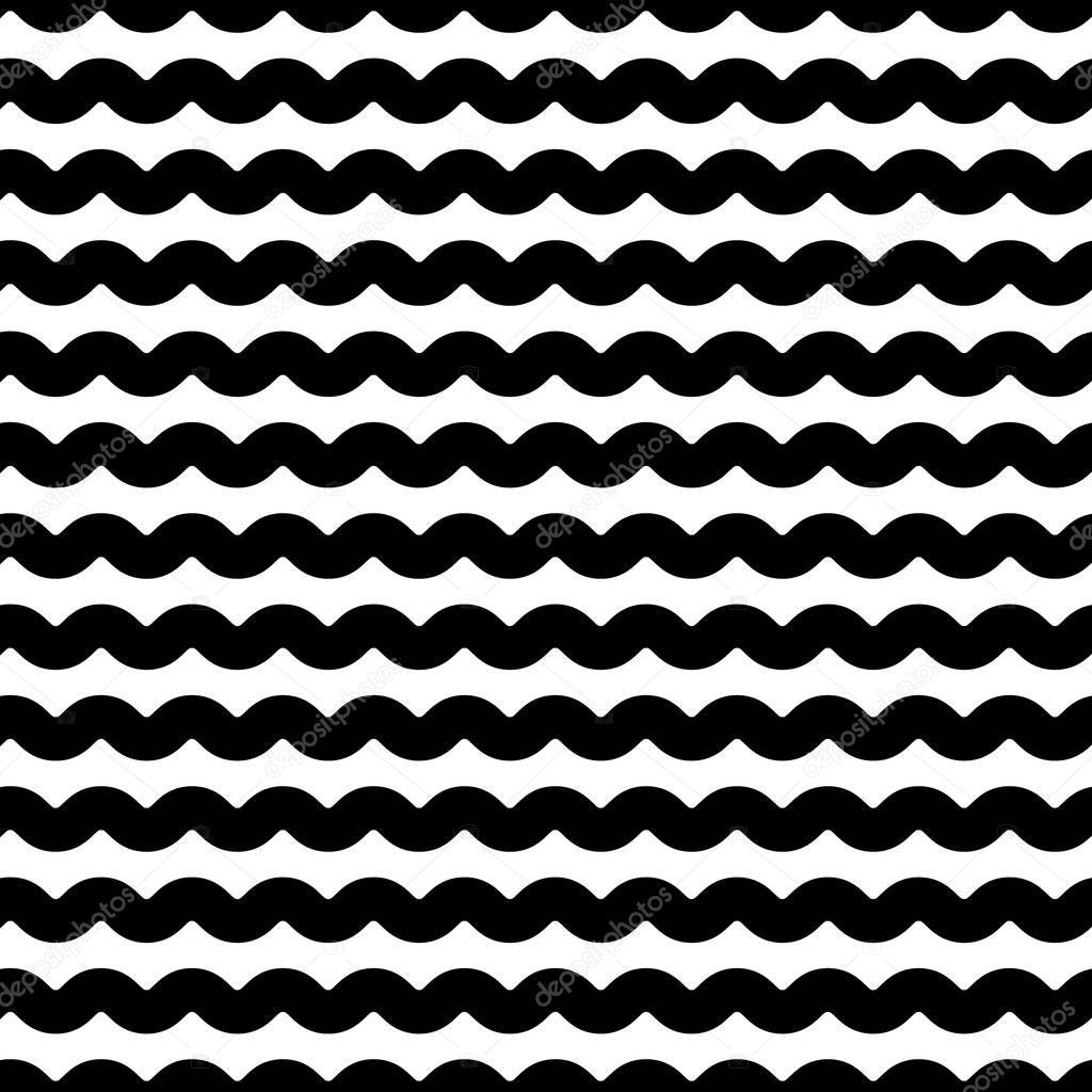 Wavy zigzag lines pattern.
