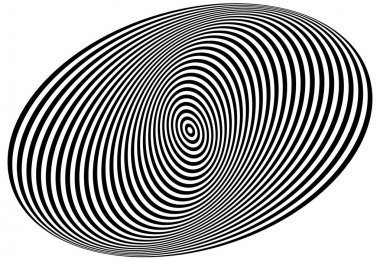 Concentric ovals forming spiral