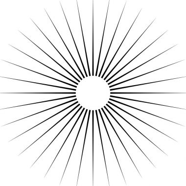 Radiating circular lines