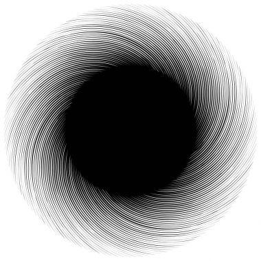 Geometric edgy spiral shape