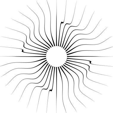 Bursting radial lines