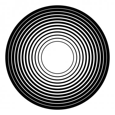 Radial, radiating circular graphic.