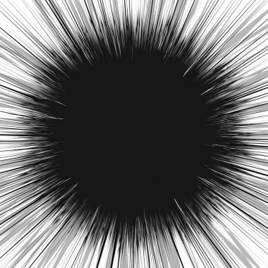 Radial lines rays abstract illustration