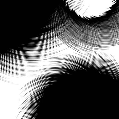 Black and white geometric abstract element