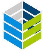 Plochá logo šablona