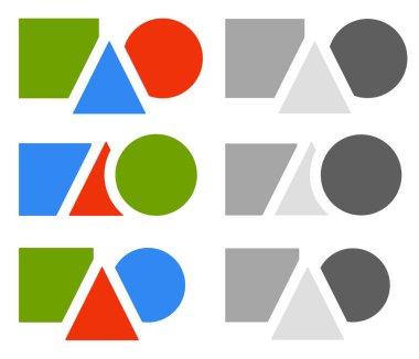 Flat logo template