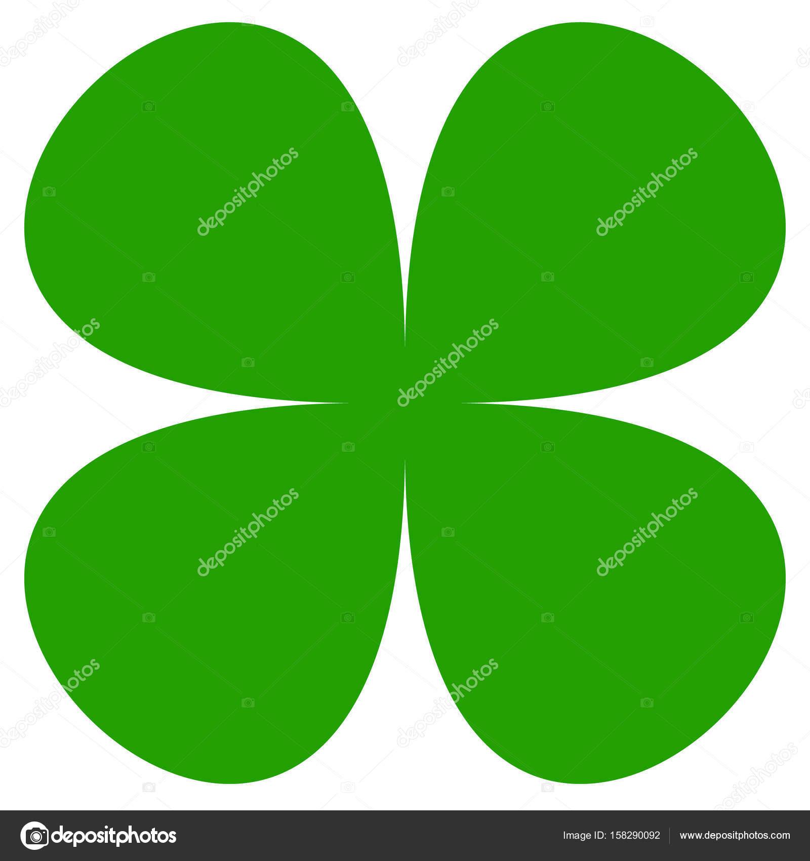 Four Leaf Clover Symbol Stock Vector Vectorguy 158290092