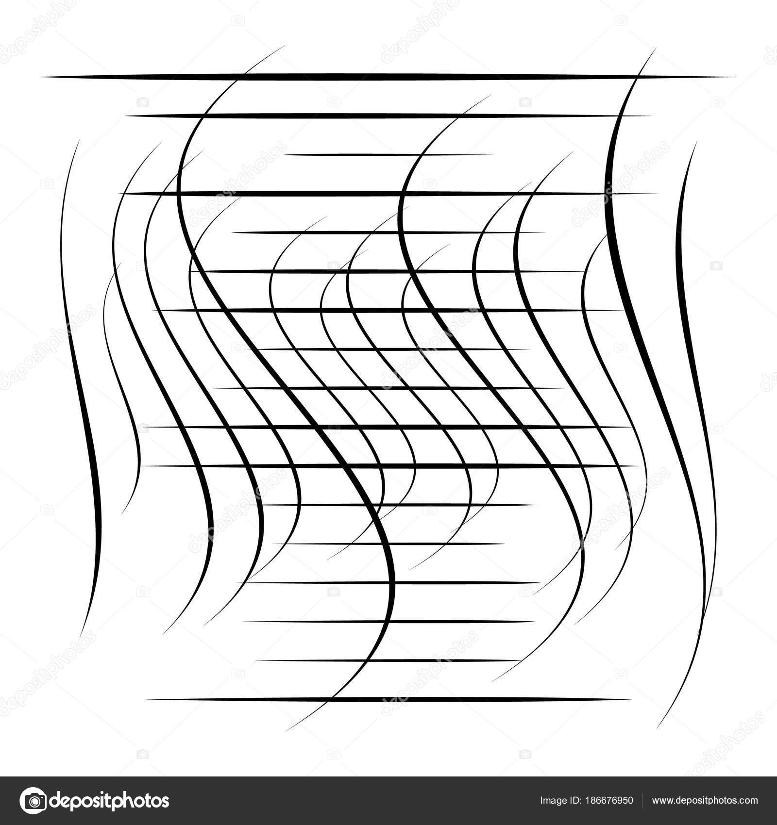 Abstrakte Element Mit Zufälligen Überlappende Linien Abstrakte ...